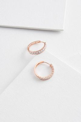 little bling hoop earrings