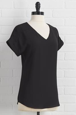 solid v-neck top