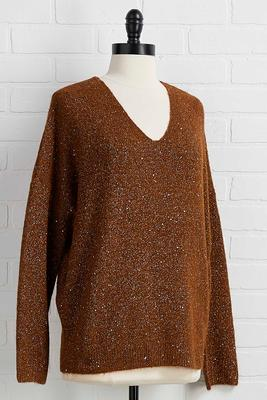 feeling shine sweater