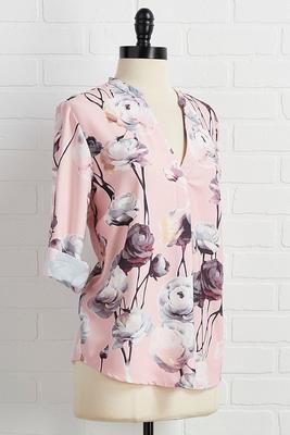 flirty floral top