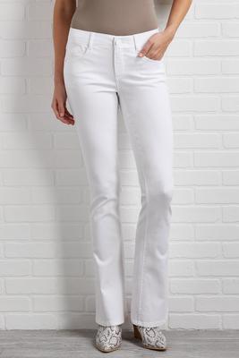white bootcut jean