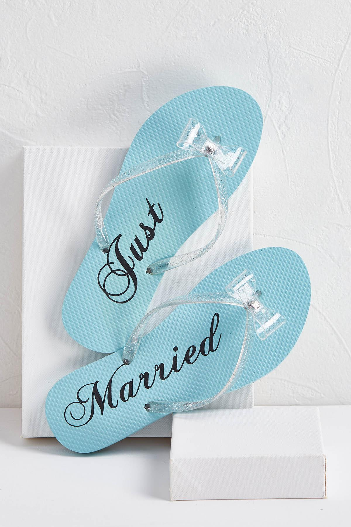 Just Married Bow Flip- Flops