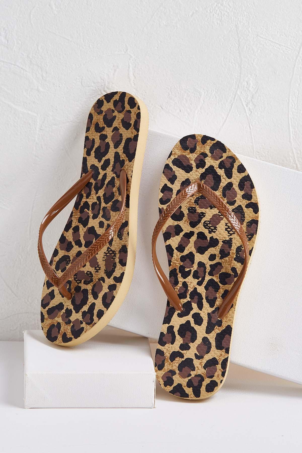 Leopard Flip- Flops