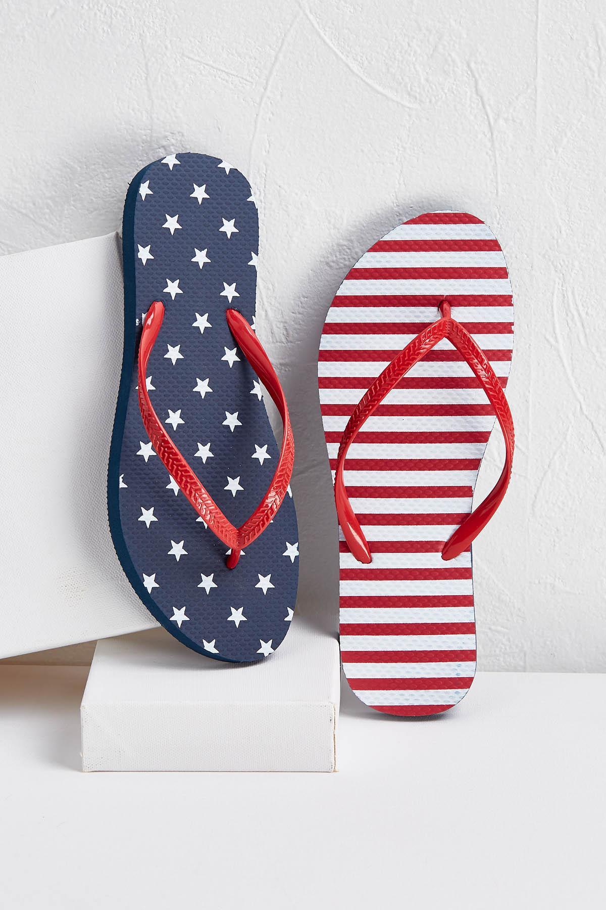 Stars And Stripes Flip- Flops