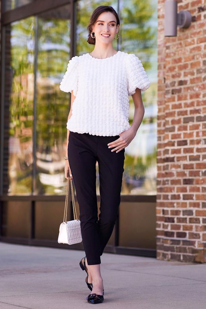 Textured Crop Pants