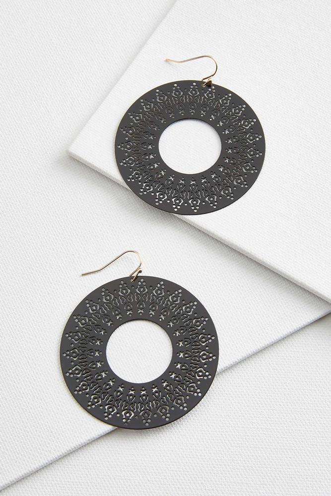 Round Laser Cut Earrings