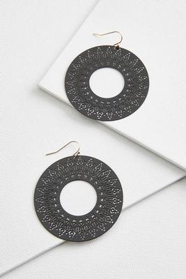 round laser cut earrings