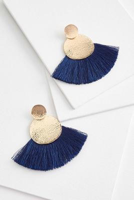 dramatic fringe earrings