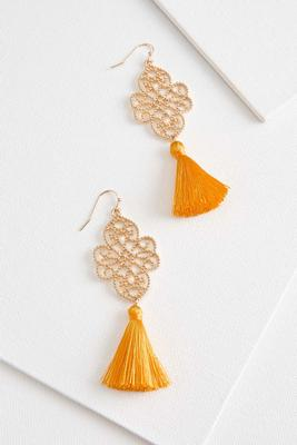 filigree tassel earrings