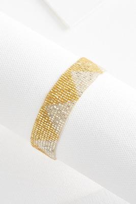 beaded tie bracelet