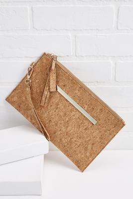 cork and metal wristlet