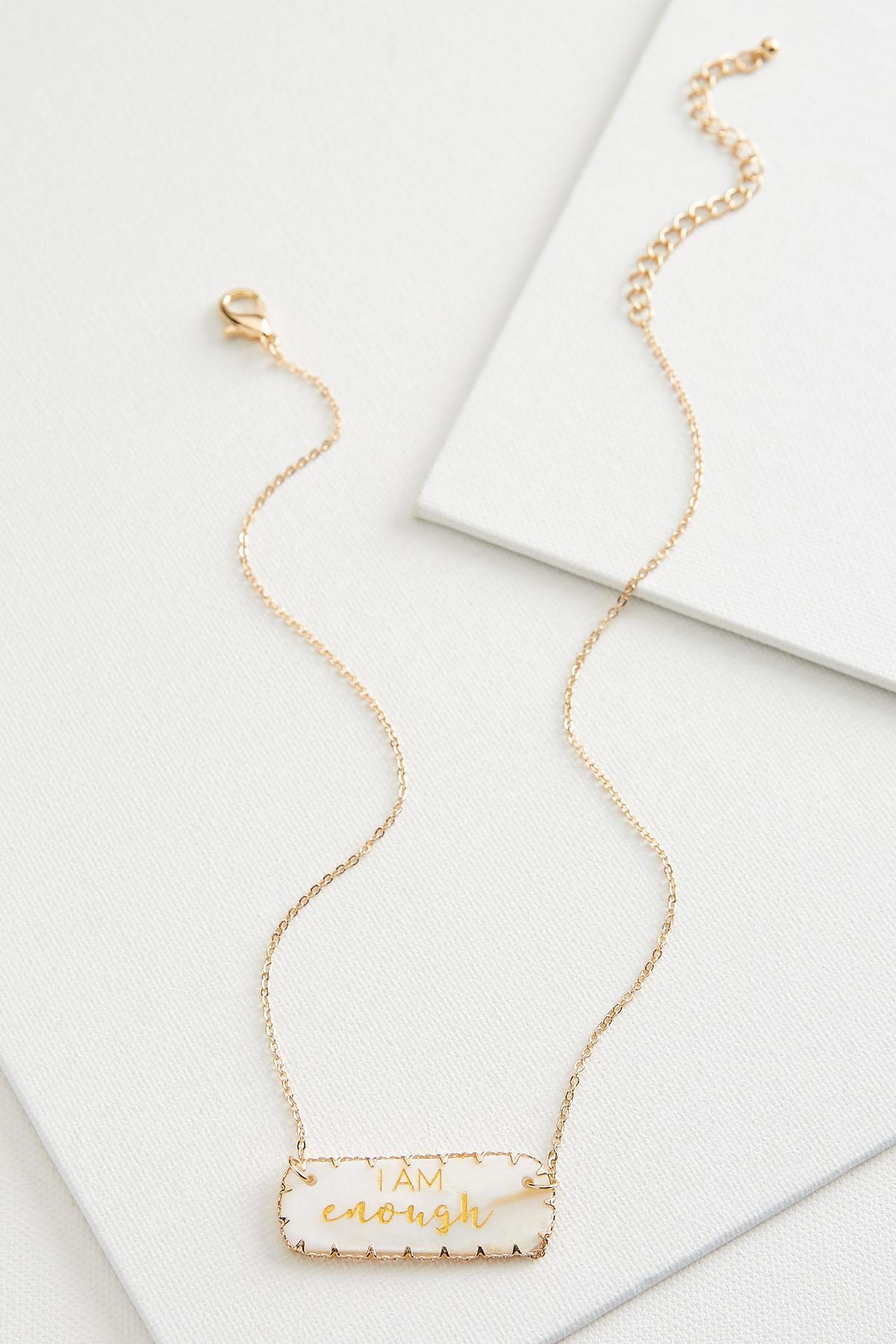 I Am Enough Pendant Necklace