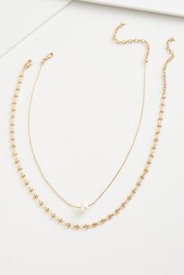 pearl pendant chain necklace