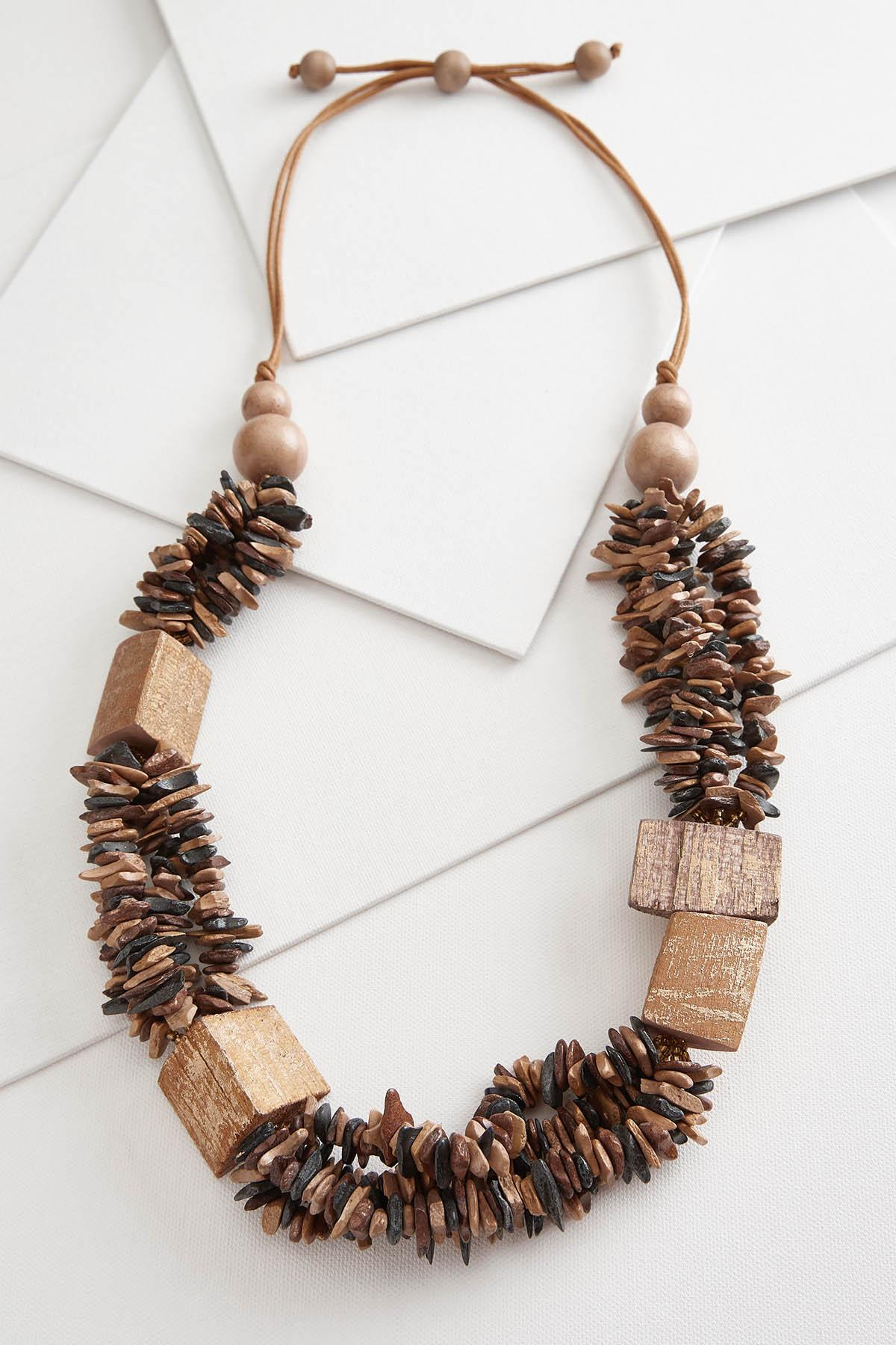 Chunky Wood Necklace