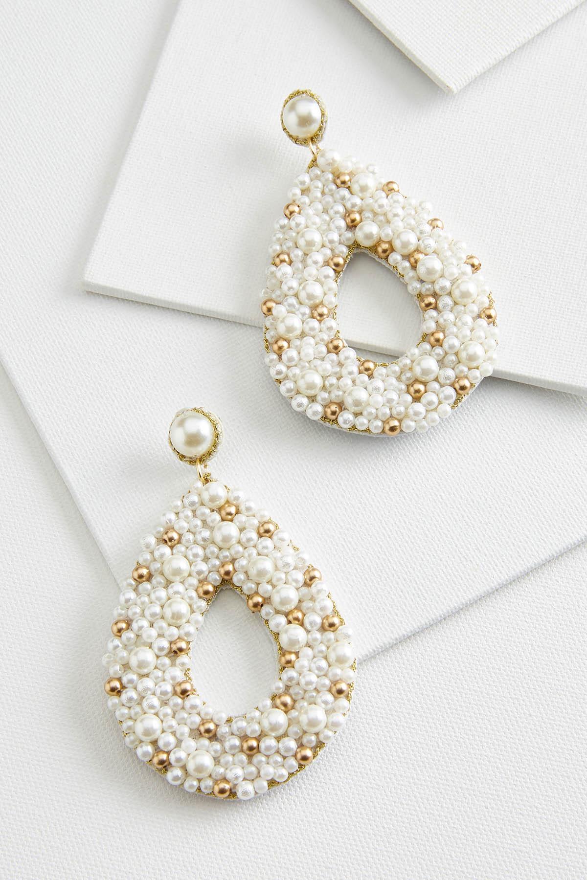 Pearl Tear Earrings