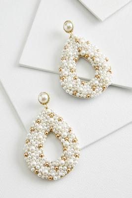 pearl tear earrings