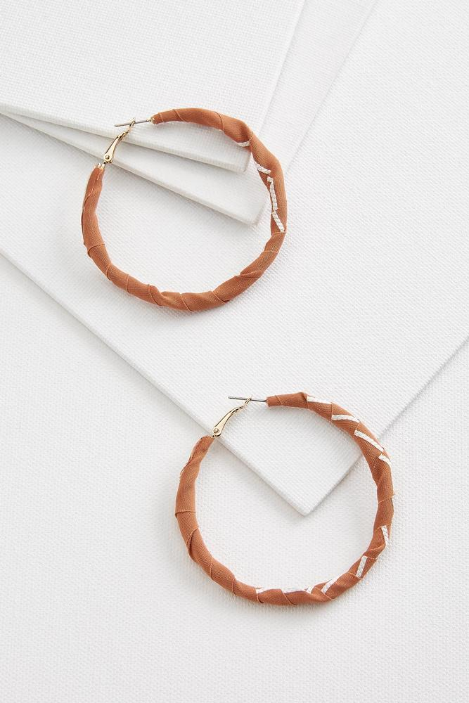 Fabric Hoop Earrings