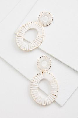 woven oval earrings