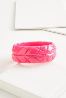 wide pink bangle