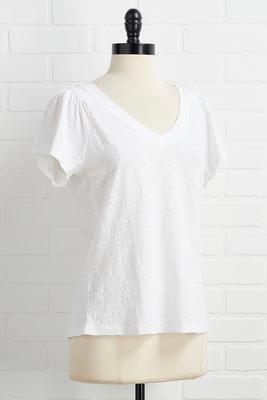 eyelet me love you top