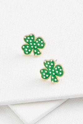 dotted shamrock earrings