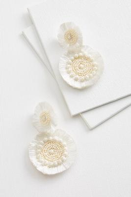 pearl and fringe earrings