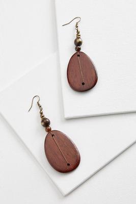 wooden pendant earrings