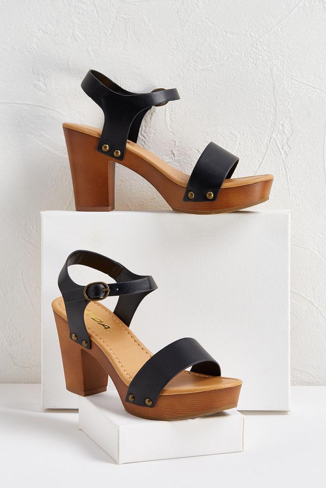 Chunky Wood Sandals