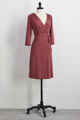 smock it off wrap dress