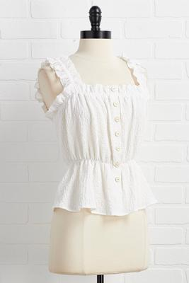 a little bit ruffle top