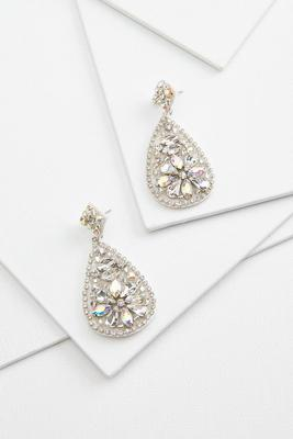 glitzy tear earrings