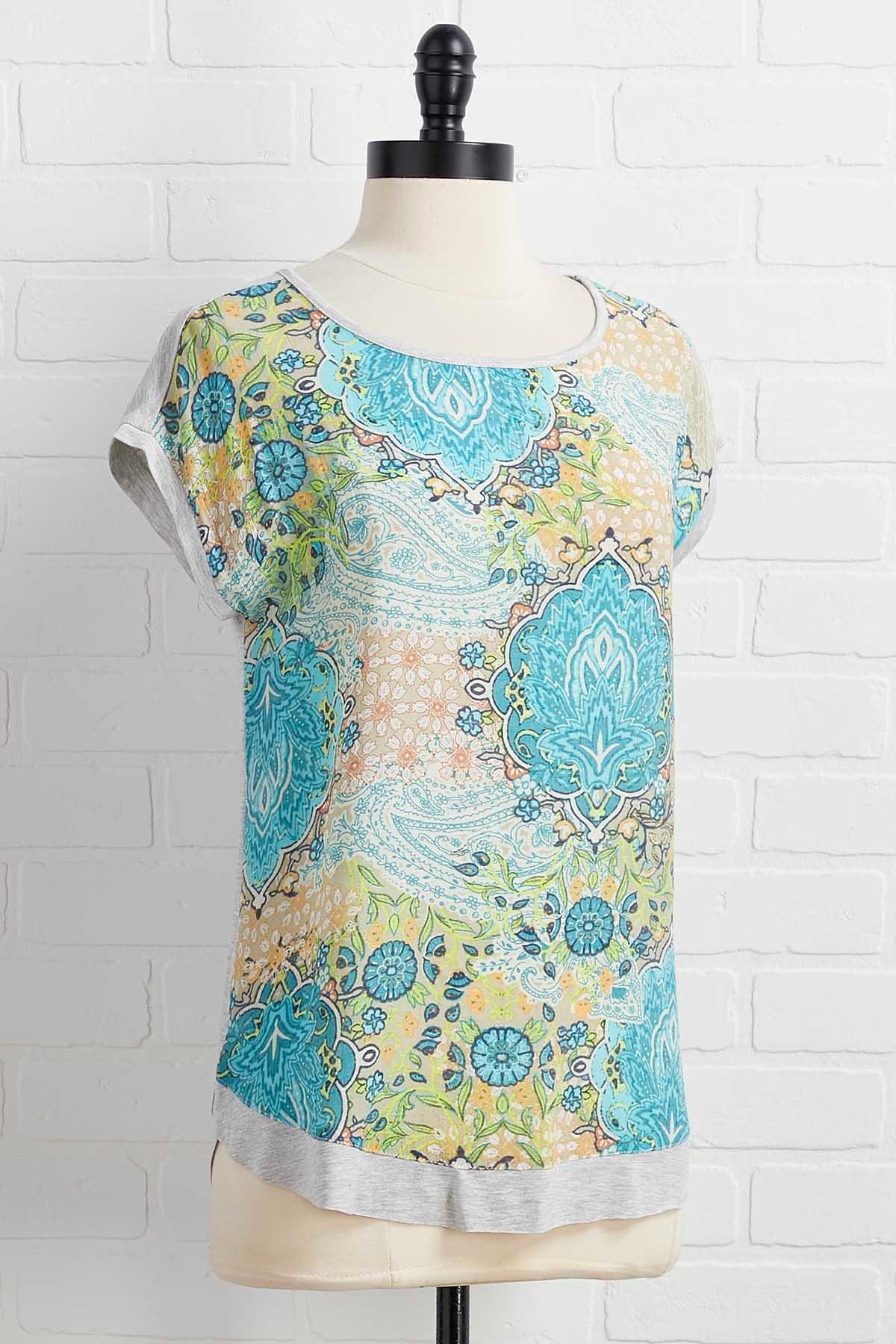 Turquoise And Caicos Top