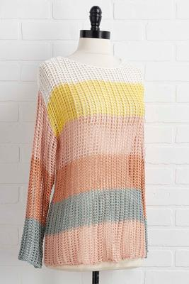 your true colorblock sweater