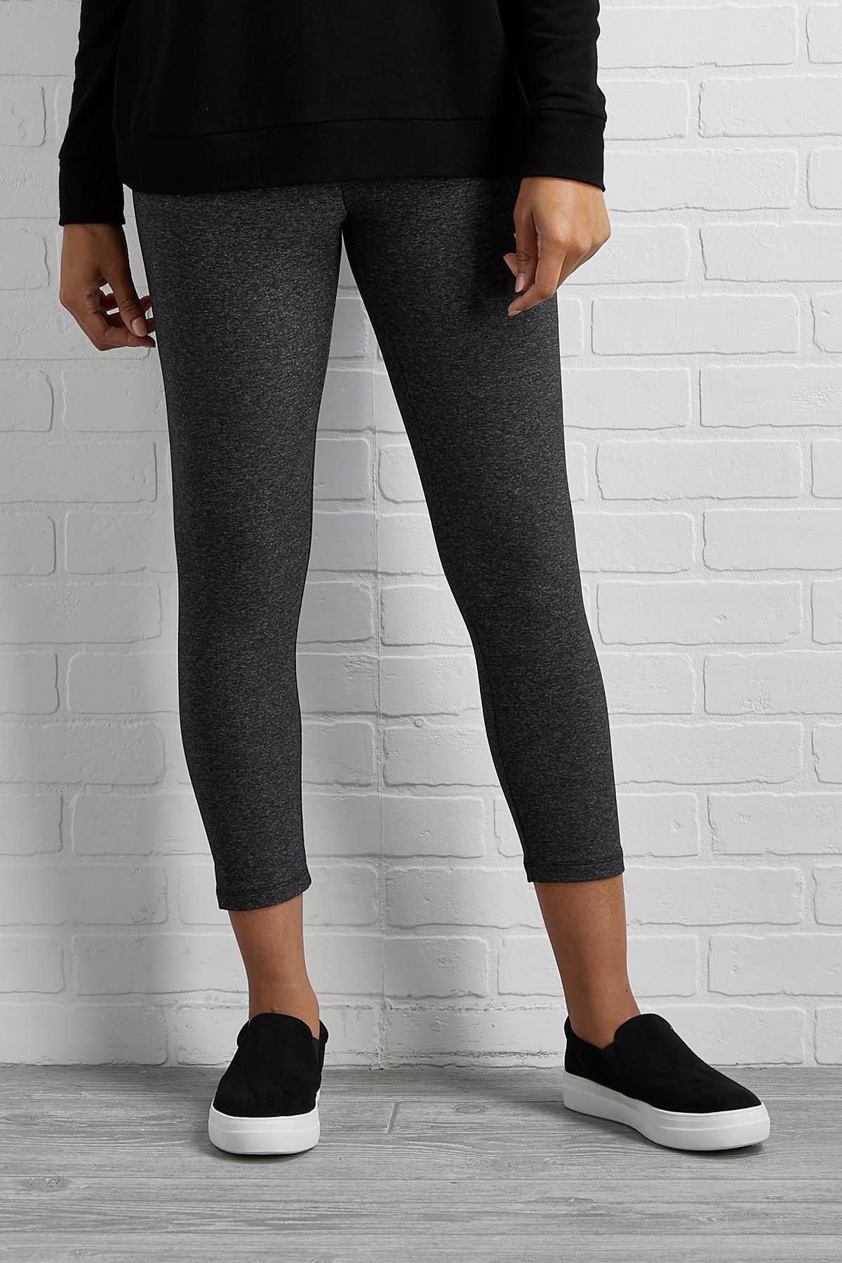 Heathered Ponte Cropped Leggings