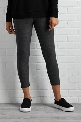 heathered ponte cropped leggings