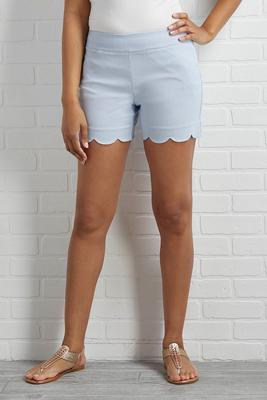 hello sailor scalloped shorts