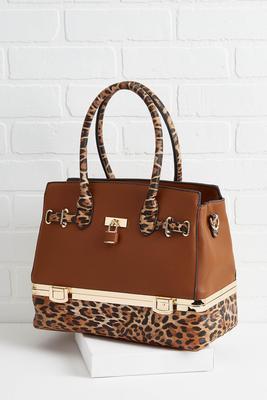leopard trunk tote