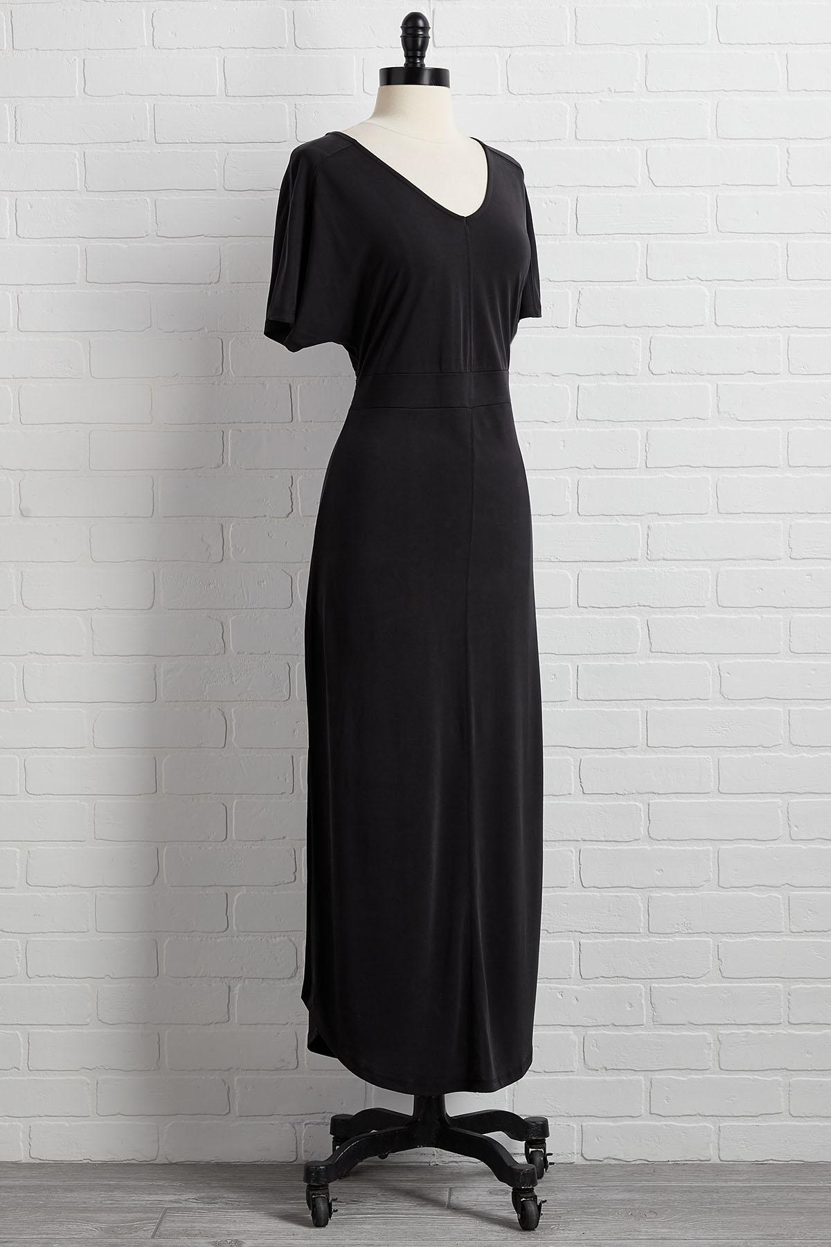 Little Black Maxi Dress
