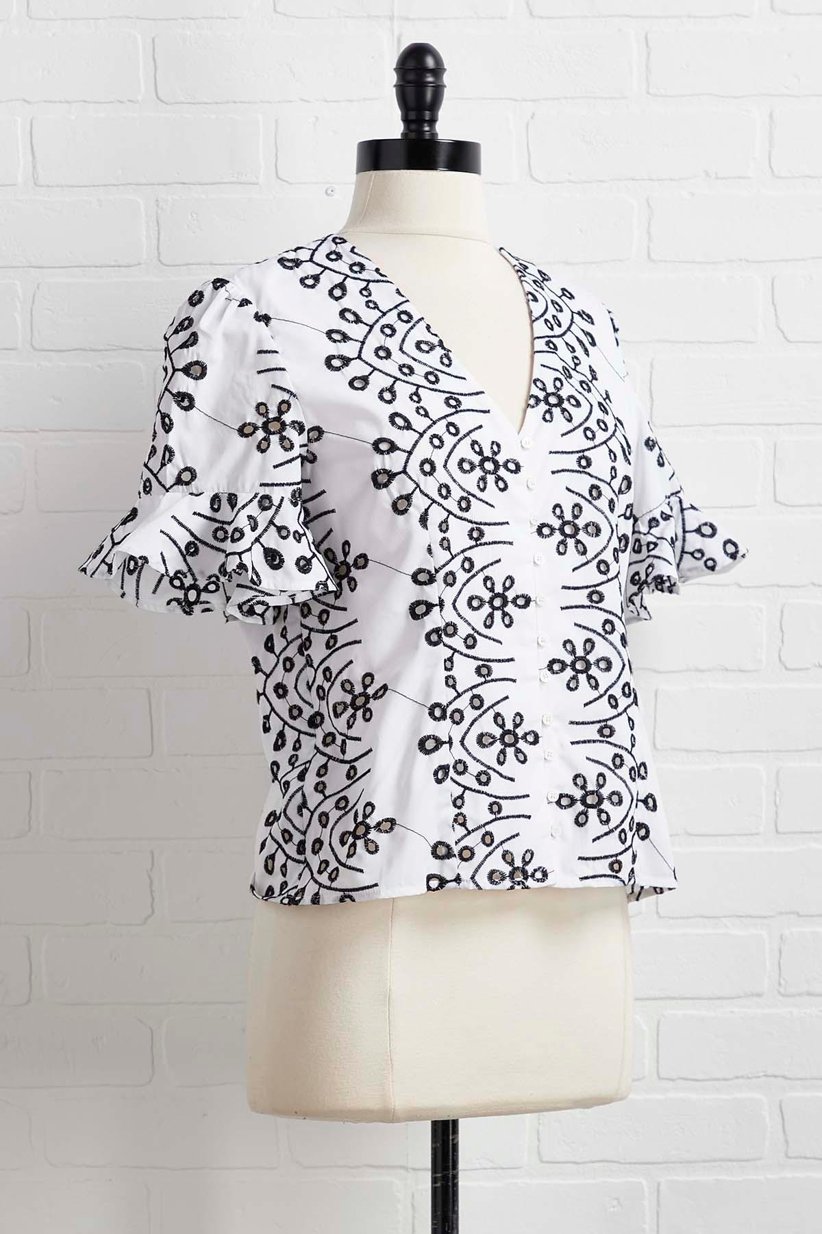 South Of The Embroidered Top