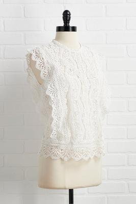 gotta love a lacy day top