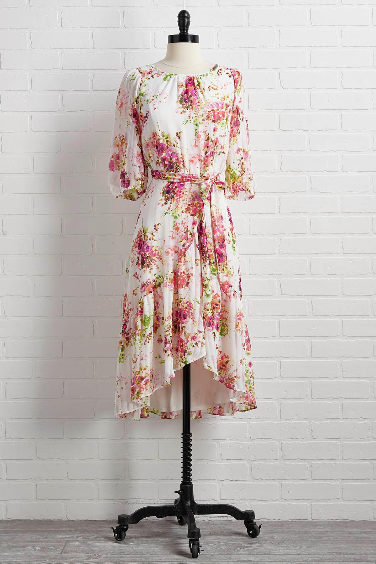 Yours Mine And Flowers Dress