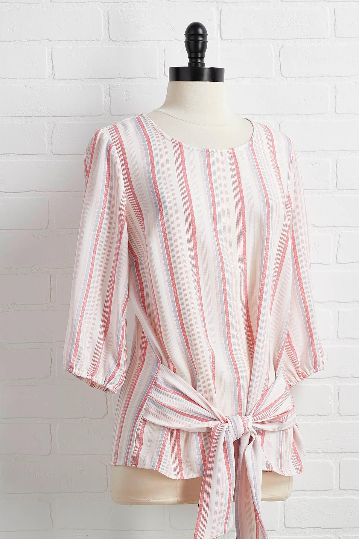A Wink To Pink Striped Top