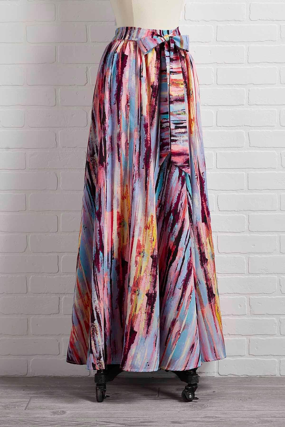 See It In Watercolor Skirt