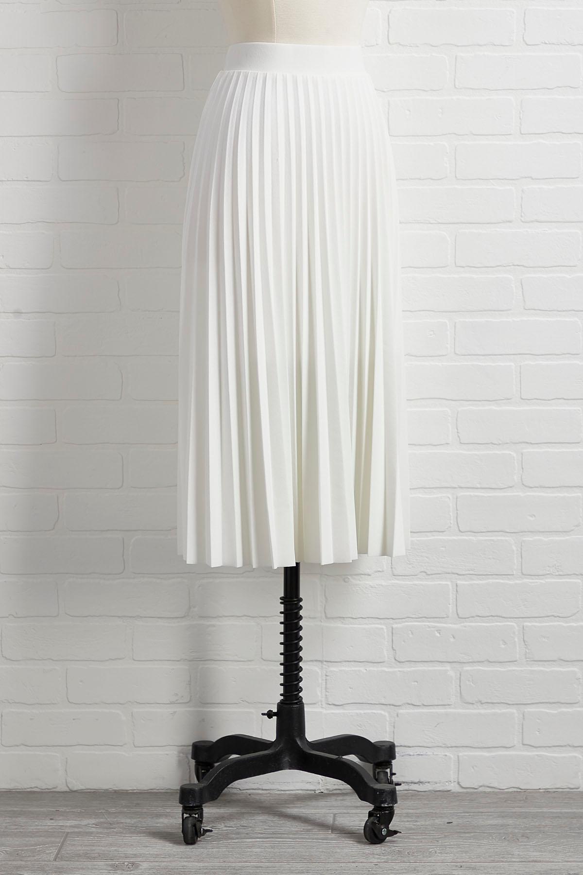 Pleats Don ` T Go Skirt