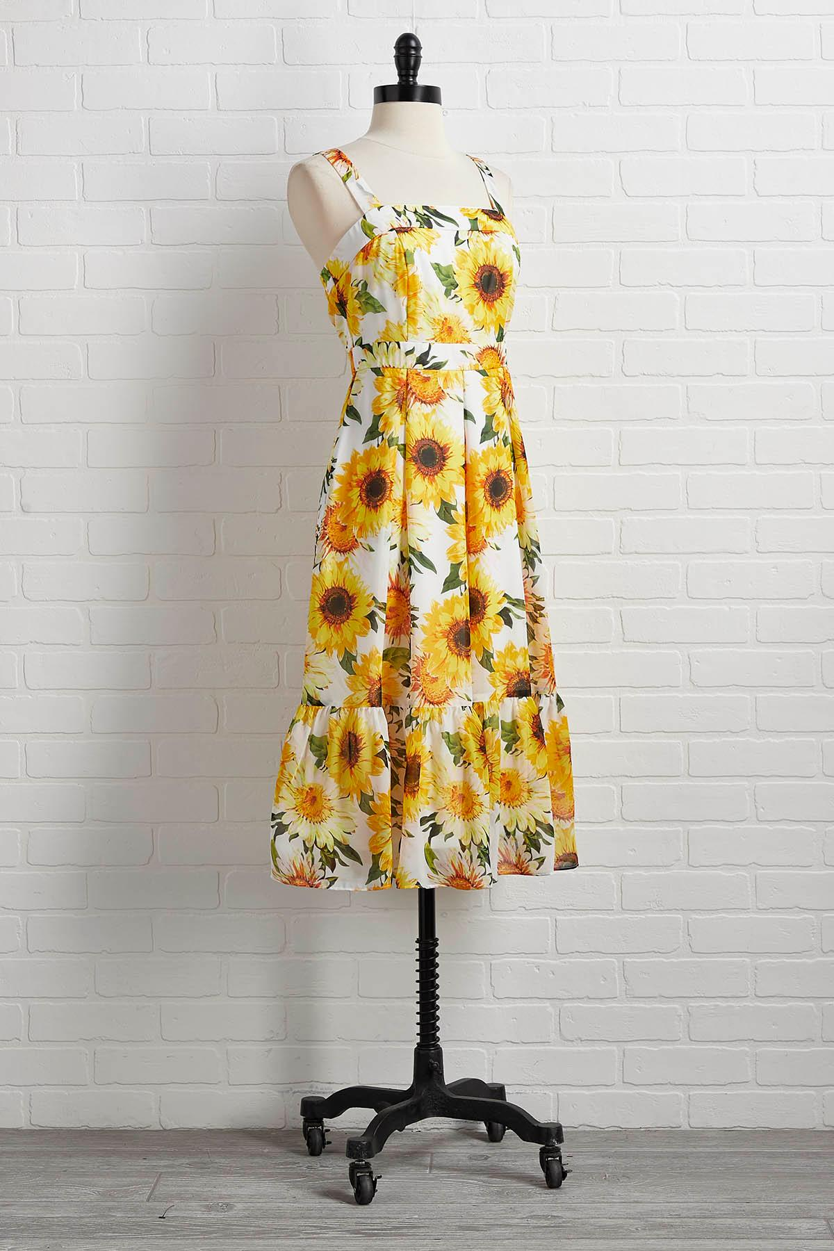 Here Comes The Sunflower Dress