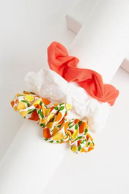 citrus scrunchie set