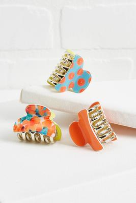 citrus claw clips