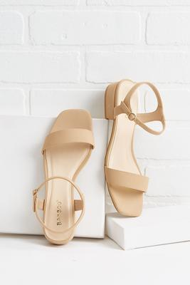 neither here nor square toe sandals