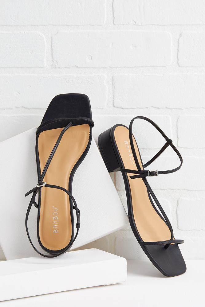 Head To Square Toe Sandals