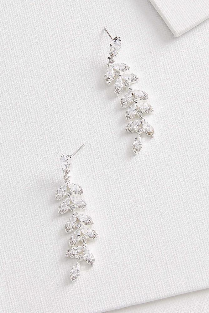 Rhinestone Vine Earrings